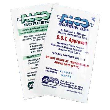 ALCOSCREEN 02 Saliva Alcohol Test